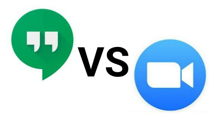 Google Hangouts vs Zoom video call