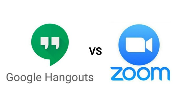 Google Hangouts vs Zoom