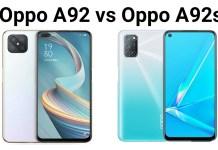 Oppo A92 vs Oppo A92s
