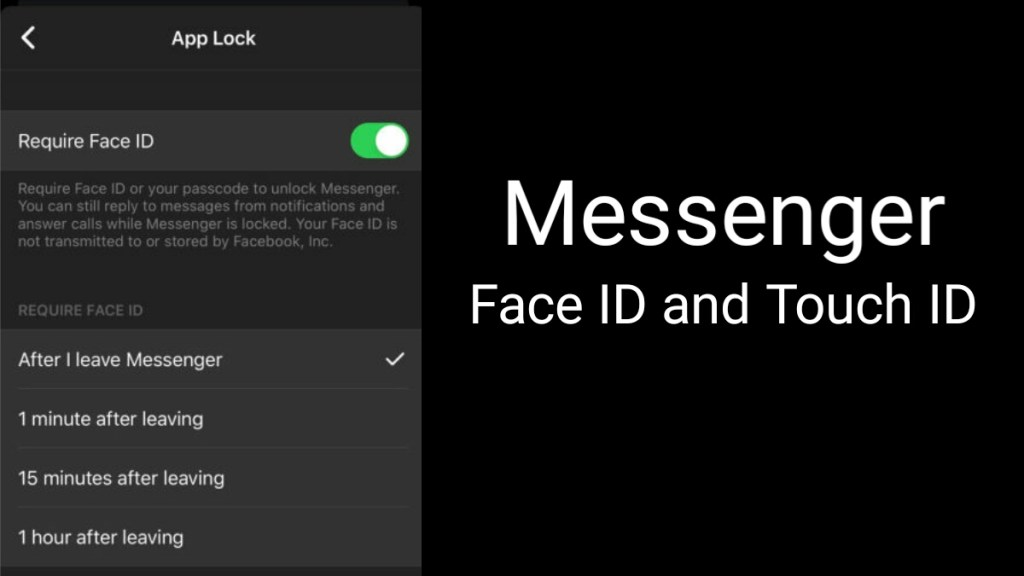 Coming soon, Facebook Messenger Face ID and Touch ID for iOS user