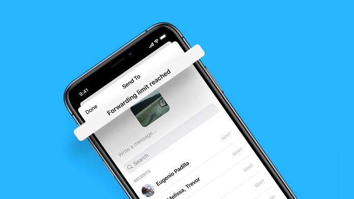 Facebook Messenger limit Message forwarding