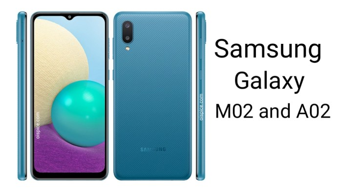 Samsung Galaxy M02 and A02