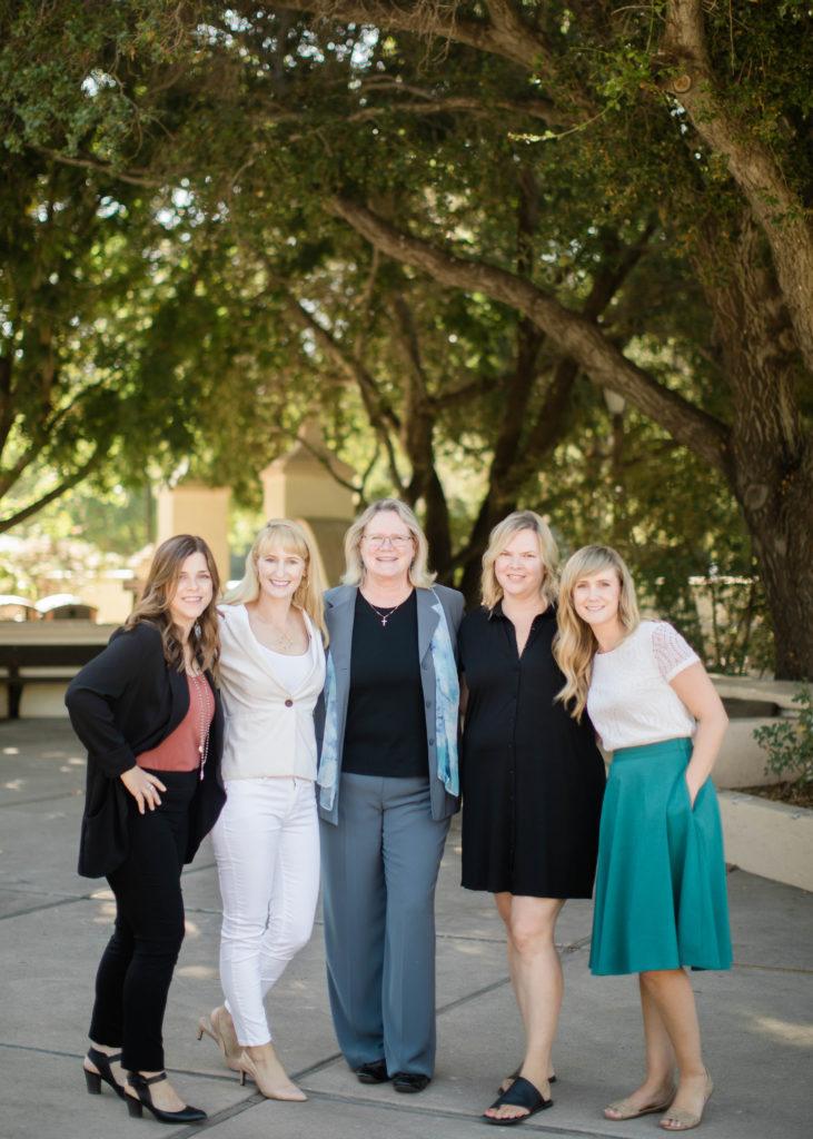 Ojai's five female heads of school: Jodi Grass, Tiffany Morse, Nancy O'Sullivan, Blossom Pidduck and Portia Johnson