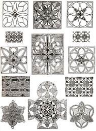 Рис. 8.Геометрические орнаментыРис. 9.Растительные орнаменты