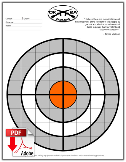 free printable shooting target # 6