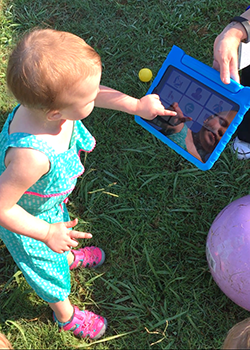 2-year old with GoTalk NOW app