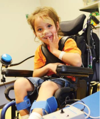 Young Girl with Mobile Wheelchair