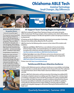 2018 ABLE Tech Summer Newsletter (4th Qtr.)