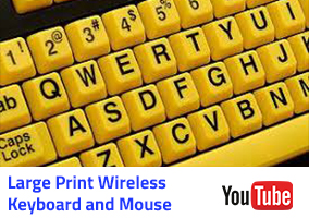 Large Print Wireless keyboard and mouse