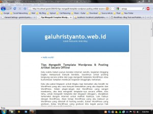 Tips Mengedit Template WordPress & Posting Artikel Secara Offline