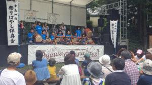 子供達の太鼓のステージ演奏【小川オーガニックフェス2018】
