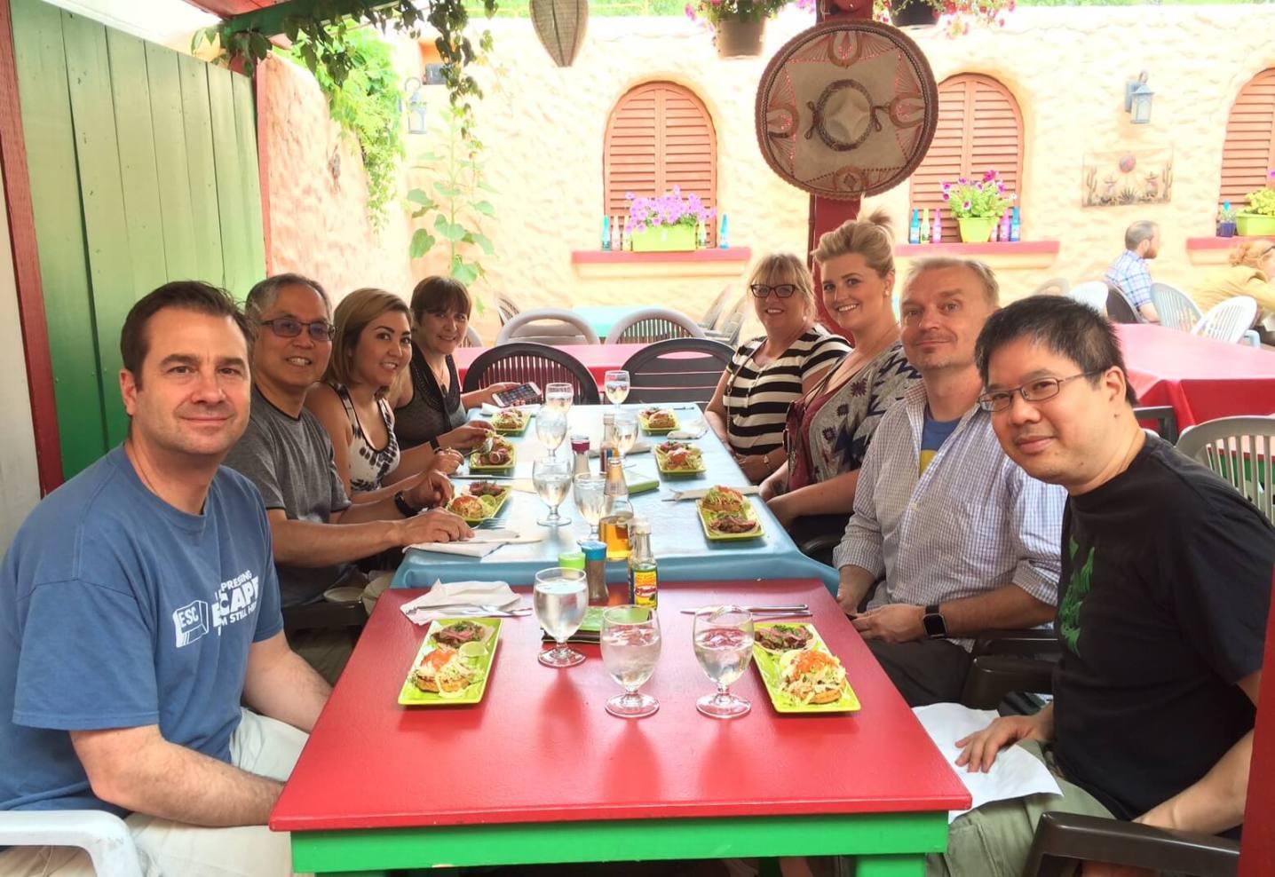 Group at Hector's Casa