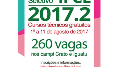 Foto de IFCE abre 260 vagas para cursos técnicos gratuitos em Crato e Iguatu; saiba mais