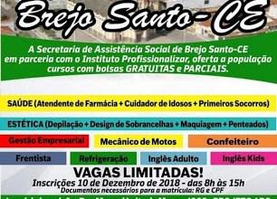 Foto de Inscrições abertas para o curso Qualifica, em Brejo Santo