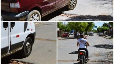 """Foto de Barro (CE): Munícipes reclamam e Cagece se pronuncia sobre """"valetas"""" feitas pela companhia em via pública"""