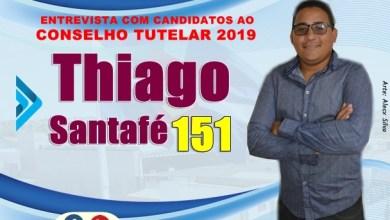 Photo of THIAGO SANTAFÉ – Nº 151: 5ª entrevista com candidatos para o Conselho Tutelar em Milagres – CE (2019).