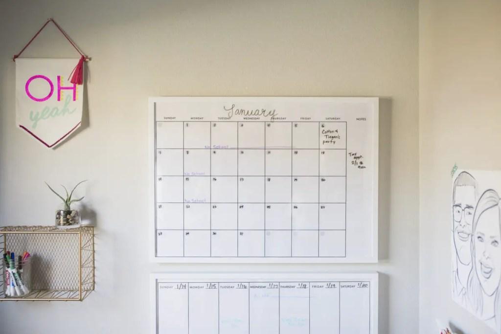 wall calendar IKEA hack