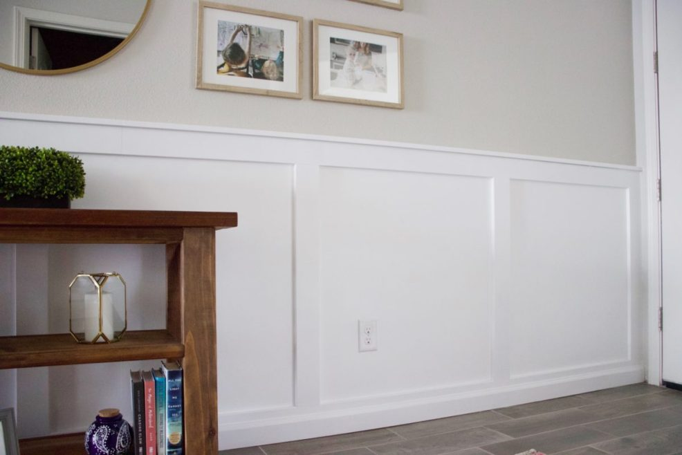 closeup of board and batten wall