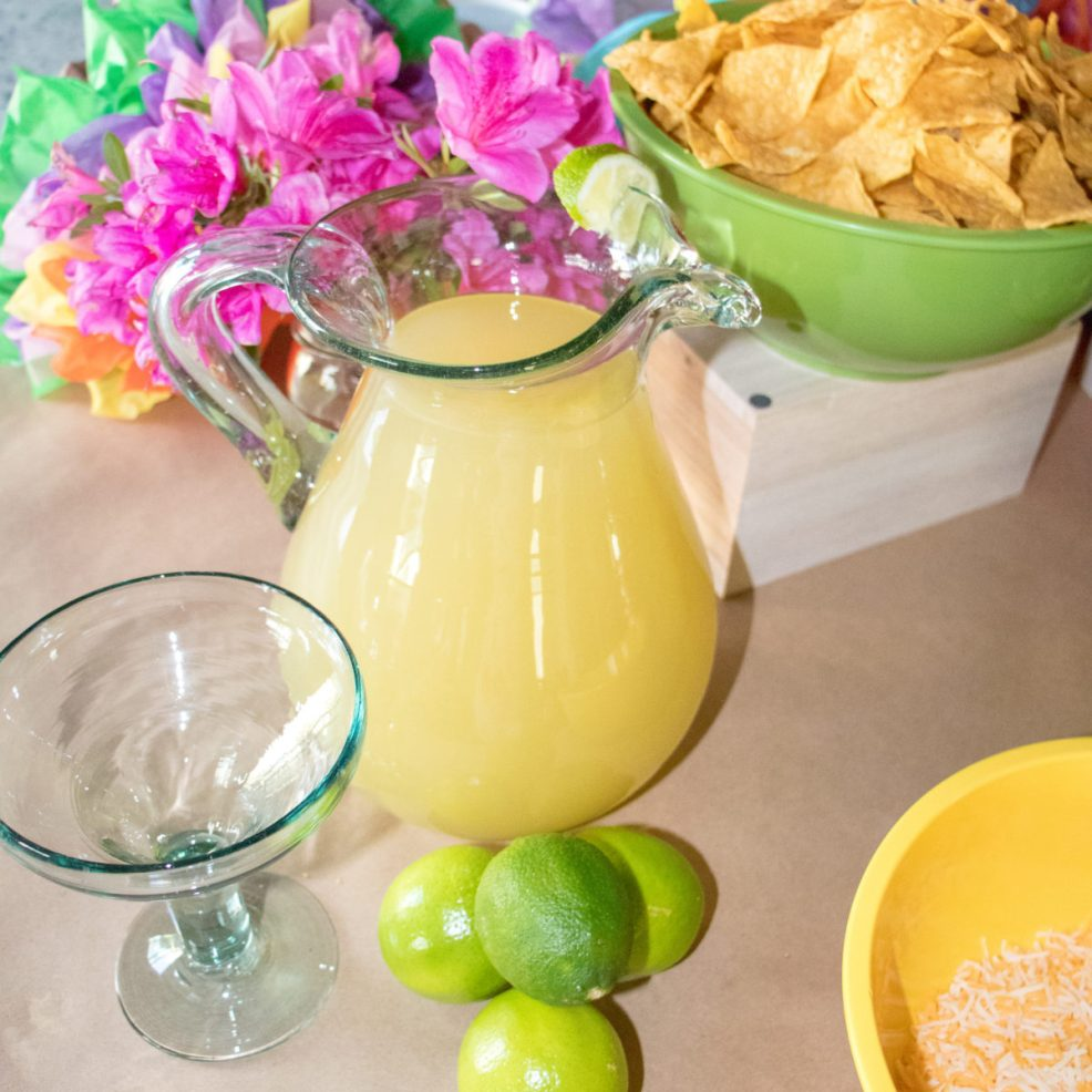 Nacho bar to feed the crowd calls for margaritas!