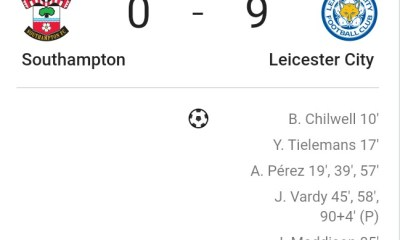 Breaking News - Leicester match Man United's record win