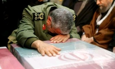 """""""The revenge for Soleimani's martyrdom is a promise given by God - Military successor to killed Gen. Soleimani says while weeping over his coffin during funeral"""