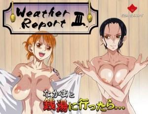 【WeatherReport3】乳ふぇいすのワンピースHCGシリーズ第三弾!今度はワノ国でナミとロビンがザーメンまみれに!