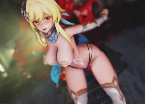【原神】蛍ちゃんがドスケベ紐水着でポロリ上等の激しい運動する3Dアニメ(Genshin Impact)