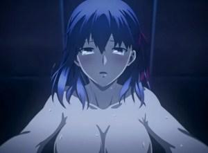 【GIF】間桐桜さん、映画の巨大スクリーンでセックスを放映されてしまうwwwww