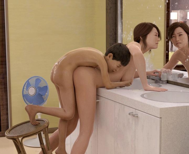 娘の同級生に銭湯で囲まれた・・・。逃げ場はない、セックスするしかない・・・。『続・お願いだから早くイって!』