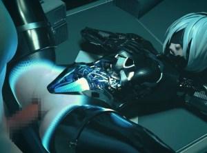 【ニーアオートマタ】メカ部分が露出した2B、エッチ過ぎる・・・中身透け透けでゲーミングデバイスみたいwwwww