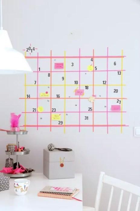 Calendario en la pared