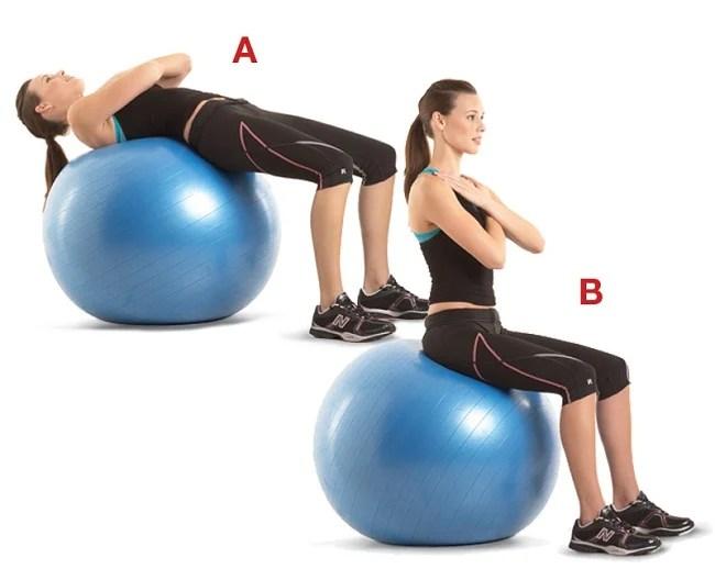 abdominales con balón