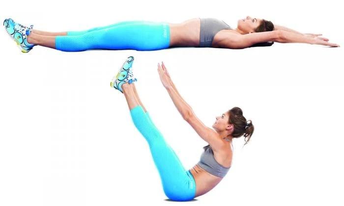 abdominal con levantamiento de piernas