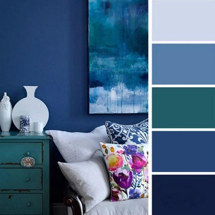 azules paleta de colores para dormitorio