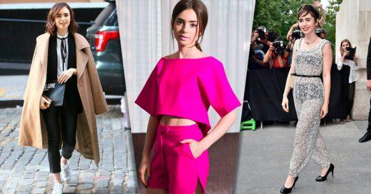 Outfits de Lily Collins que definitivamente necesitas copiar