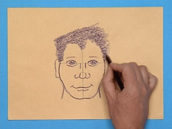 desenho retrato dos desenhos animados