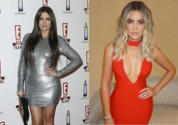 Khloé kardashian antes y después de perder peso