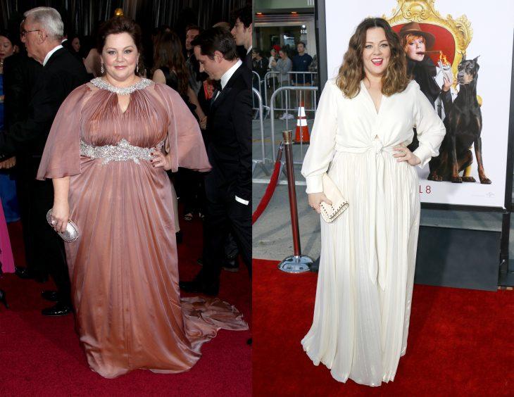 Melissa Mccarthy antes y después de perder peso