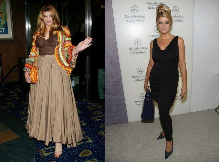 Kirstie Alley antes y después de perder peso