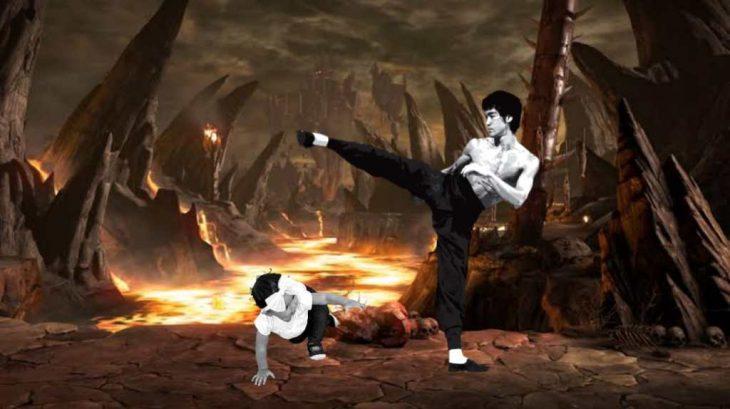 Niña aprendiendo karate