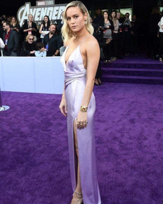 Brie Larson que interpreta el papel de Capitana Marvel en la premiere de la película de Avengers: Endgame en Los Angeles
