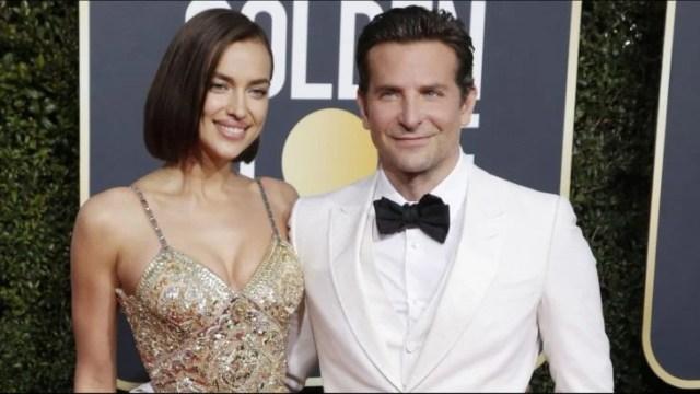 Irina Shayk y Bradley Cooper abrazados durante la gala de los globos de oro 2019