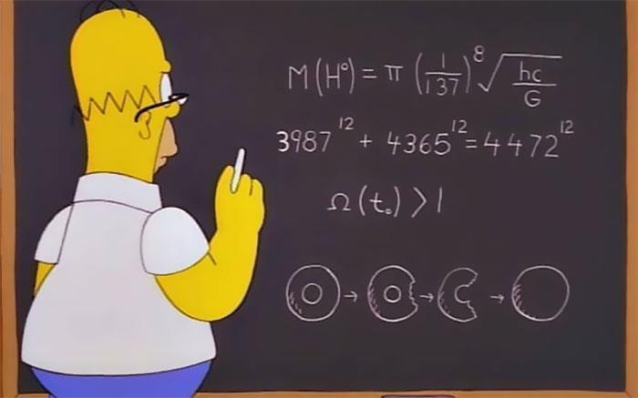 Los Simpson y el descubrimiento de la partícula de Dios