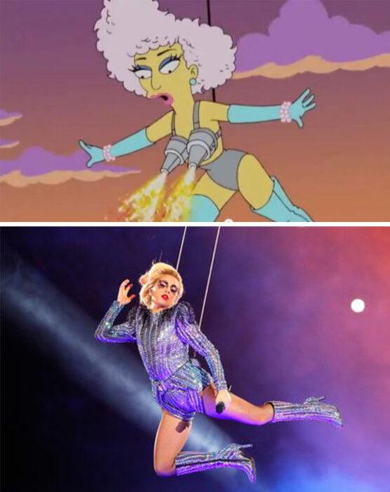 Los Simpson y la presentación en el Super Bowl de Lady Gaga