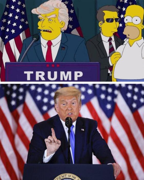 Los Simpson y Donald Trump llega a la presidencia de Estados Unidos