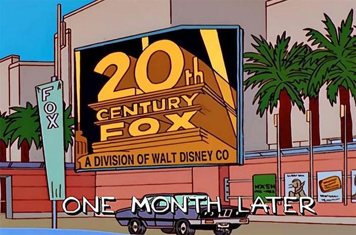 Los Simpson y Disney compra Fox