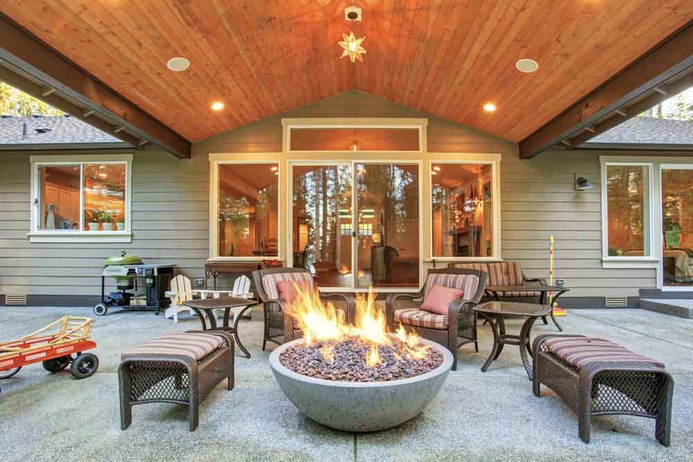 outdoor fire pit construction year round backyard fun in okc