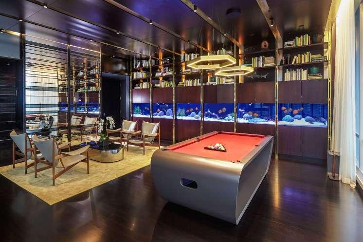 One 57 Amenities Room / 24'x23″x29″ / 700 Gallon Freshwater Aquarium