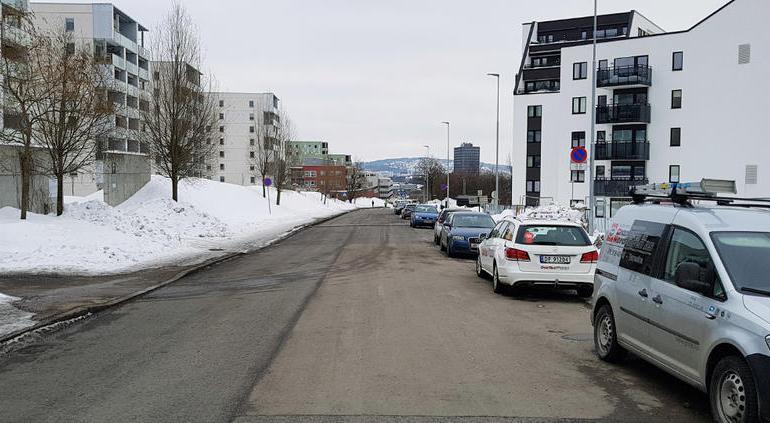Beholder noe gateparkering i Økern Torgvei