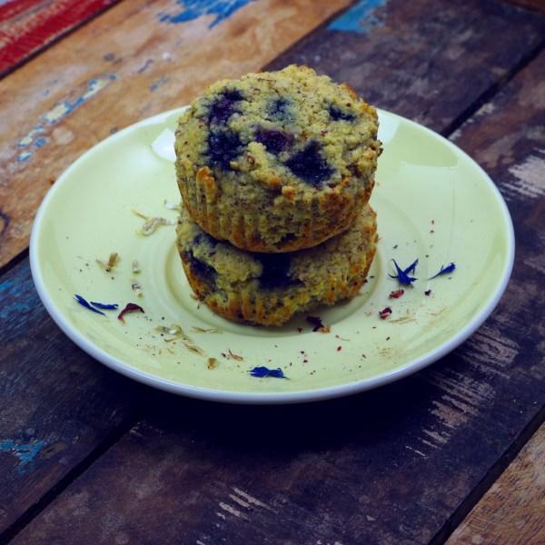low carb, zuckerfreier, Blueberry Muffin - ketogen